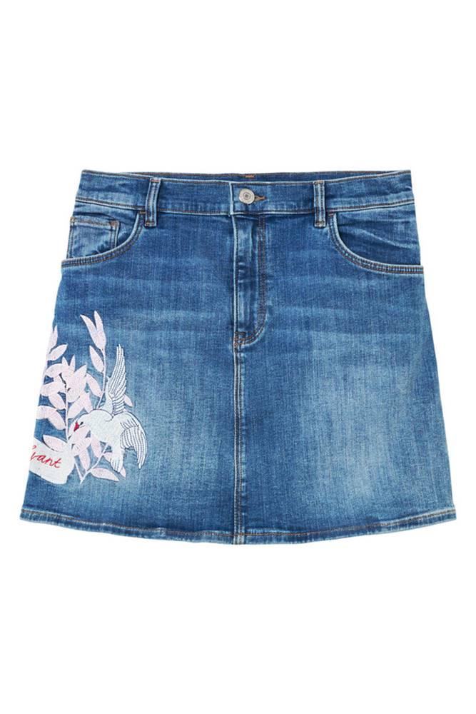 gant Tg. Denim Embroidered Skirt