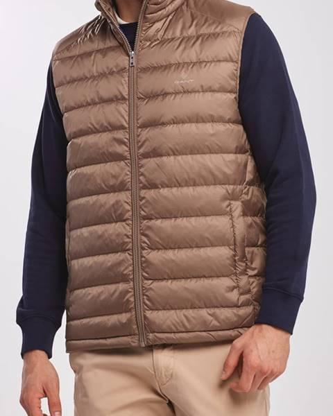 Hnědá vesta gant