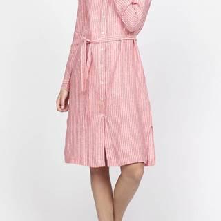 Šaty Gant O2. Striped Linen Shirt Dress