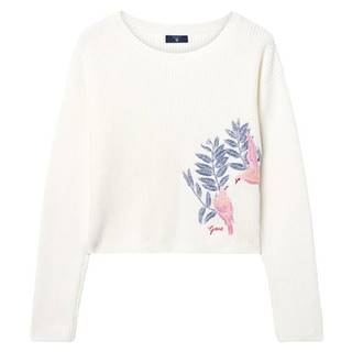 Tg.Embroidered Cropped Rib Jumper
