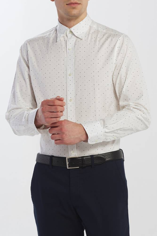 gant Košile  D2. Micro Polka Dot Print Reg Lbd