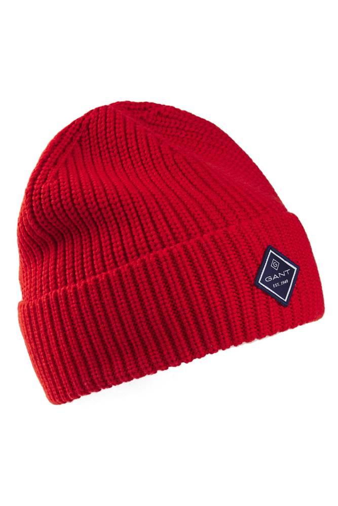 gant Čepice  D1. Cotton Rib Knit Hat