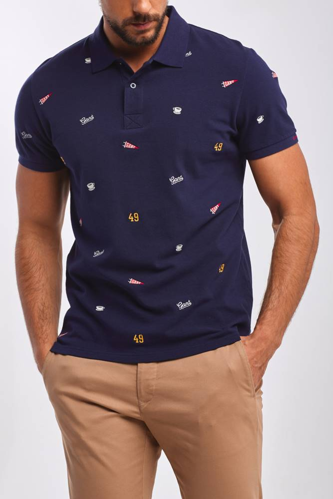 gant Polokošile  D1. French Embroidery Ss Pique