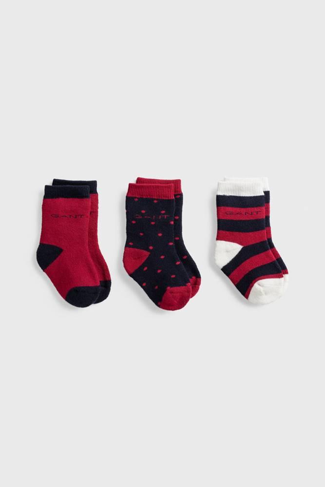 gant Ponožky  D1. 3 Pack Baby Socks
