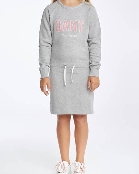 Šedé šaty gant