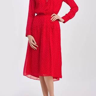 Šaty  D1. French Dot Chiffon Dress