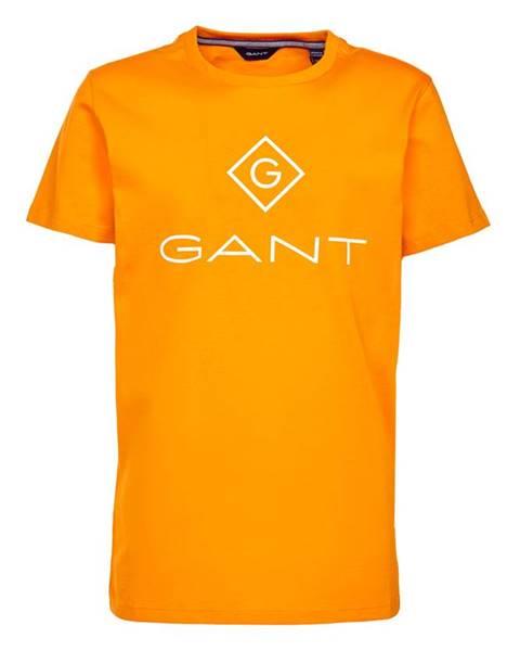 Oranžové tričko gant