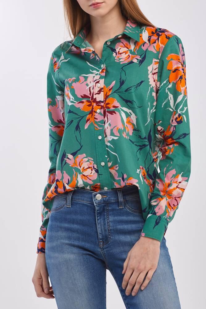 gant Košile  D1. Peonies Cotton Voile Shirt