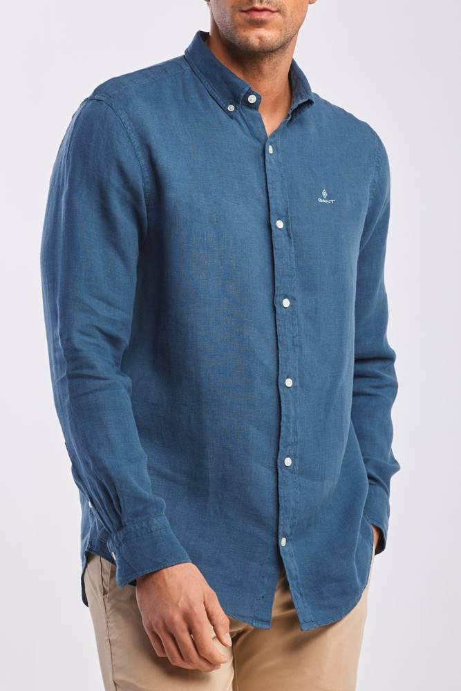 gant Košile  D2. Garment Dyed Linen Reg Bd