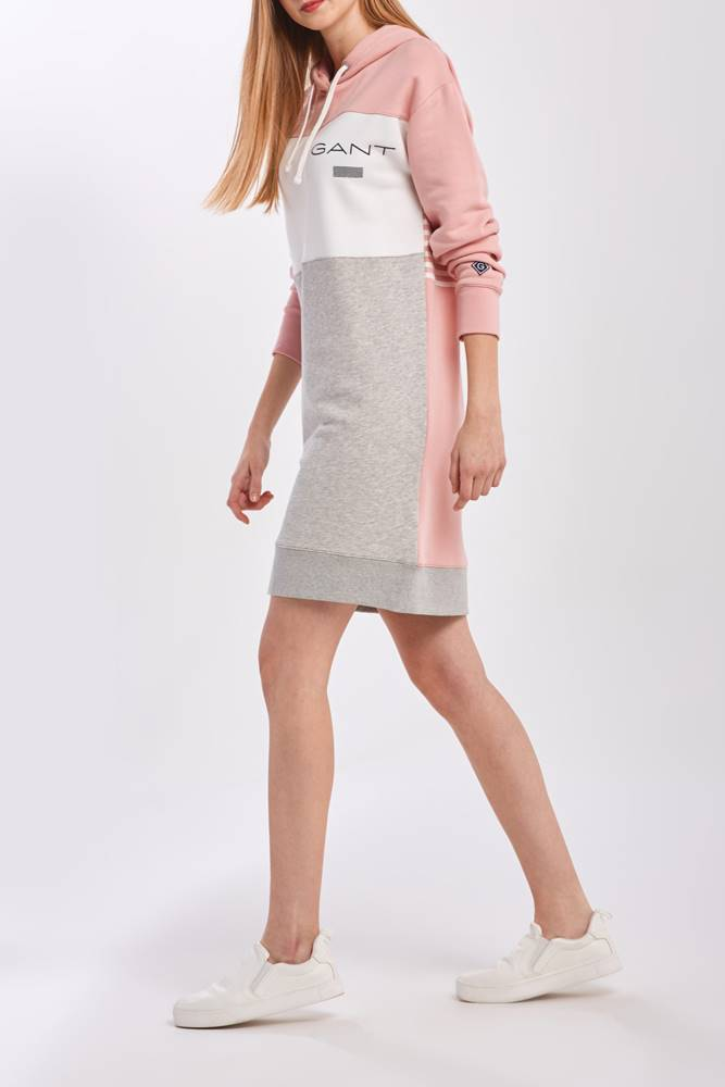 gant Šaty  D1.  Stripe Hoodie Dress