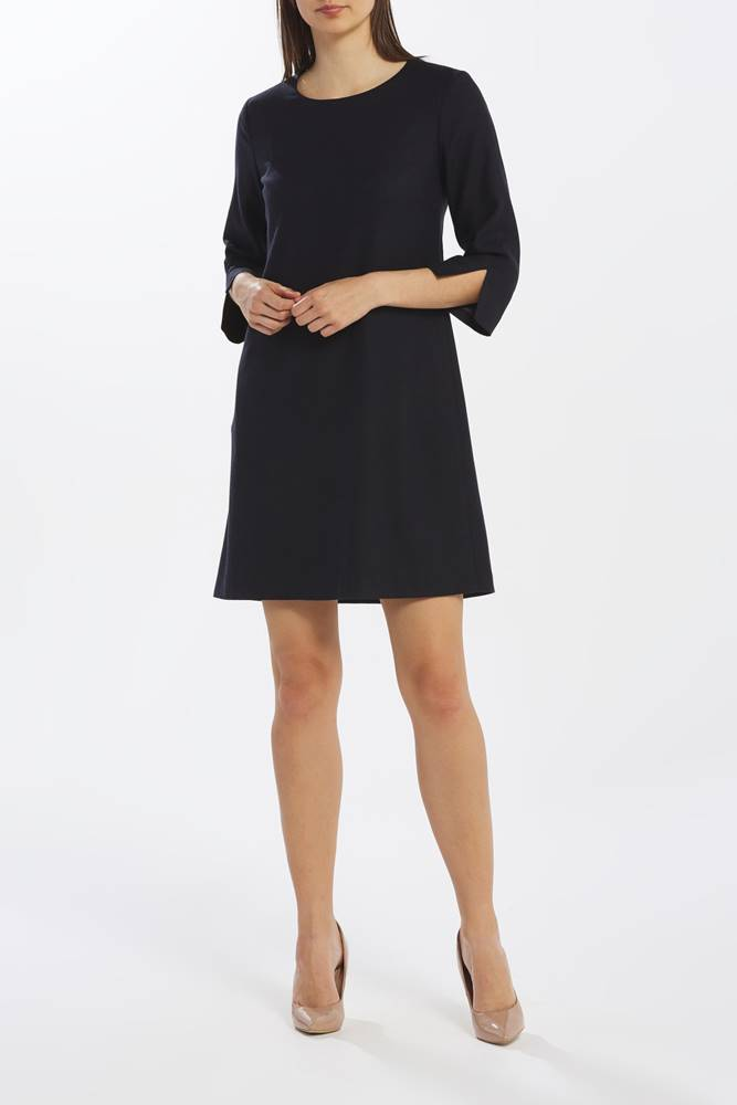 gant Šaty  D1. Washable Str Wool A-Line Dress