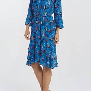 Šaty  D1. Floral Fly Fish Ruffle Dress