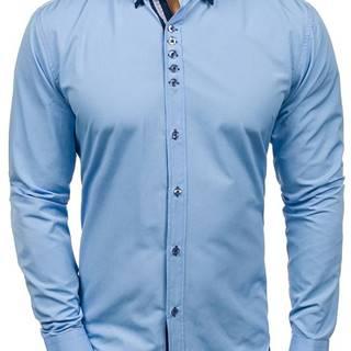 Blankytná pánská elegantní košile s dlouhým rukávem
