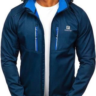 Tmavě modrá pánská softshellová bunda