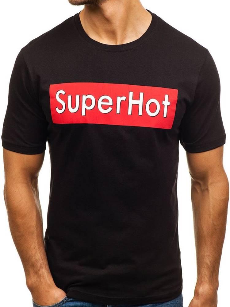 RIPRO Černé pánské tričko s potiskem