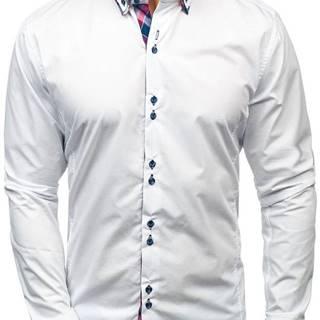 Bílá pánská elegantní košile s dlouhým rukávem