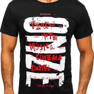 Černé pánské tričko s potiskem