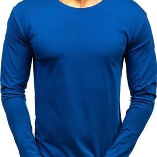 Indigo pánské tričko s dlouhým rukávem bez potisku
