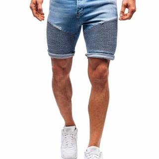 Modré pánské džínové kraťasy