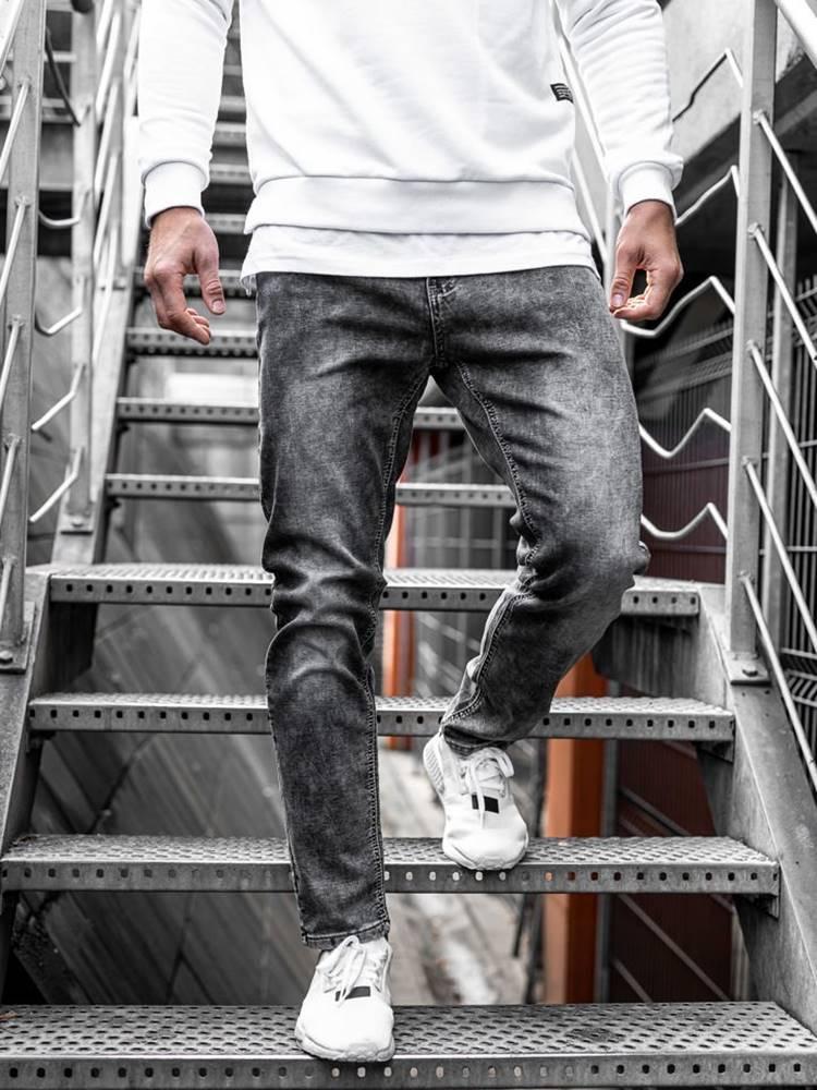 M.SARA Černé pánské džíny