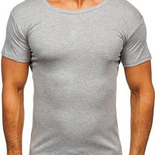 Šedé pánské tričko bez potisku