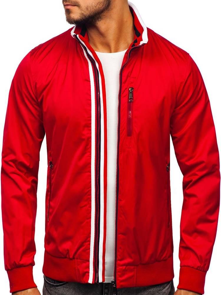 BOLF Červená pánská přechodová bunda
