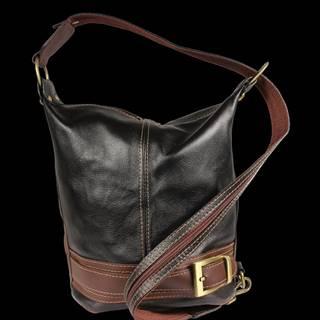Kožená kabelka crossbody Adele Nera Marrone
