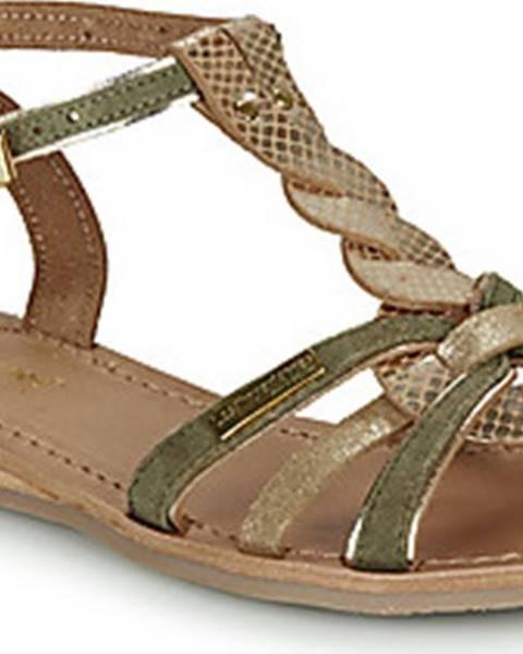 Khaki sandály Les Tropéziennes par M Belarbi