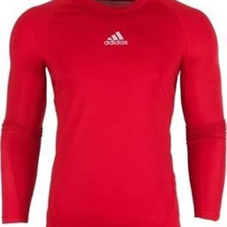 adidas Trička s dlouhými rukávy Alphaskin LS Červená