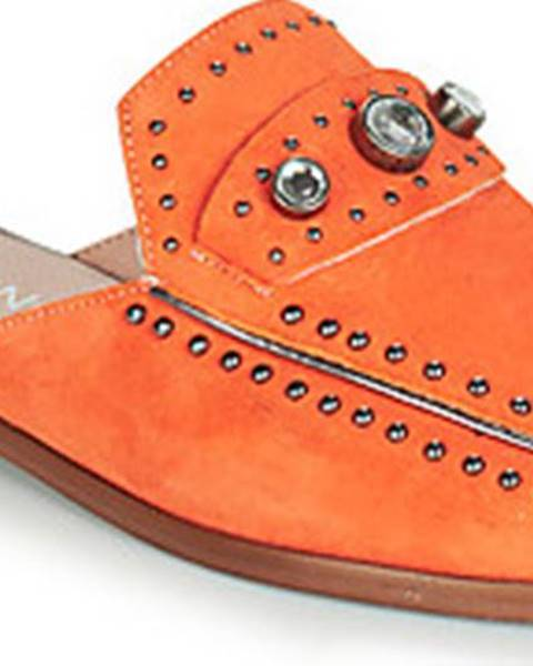 Oranžové pantofle Dorking