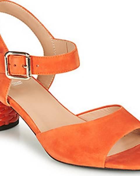 Oranžové sandály geox