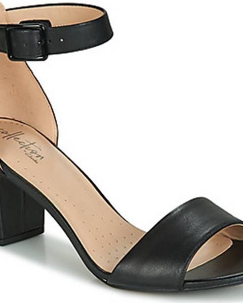 Černé sandály Clarks