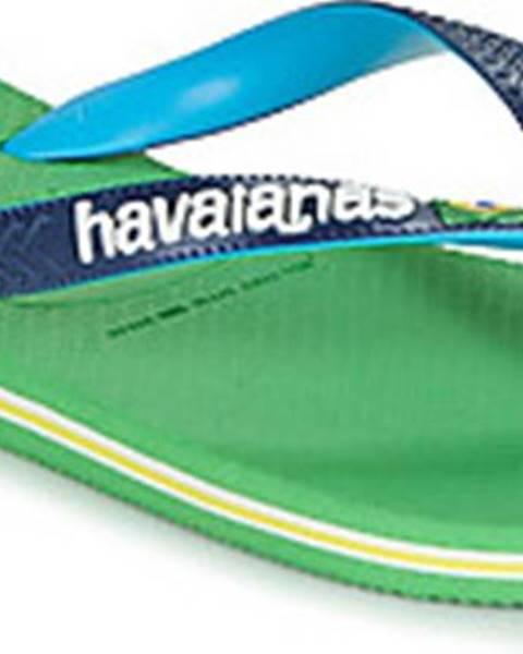 Zelené pantofle havaianas