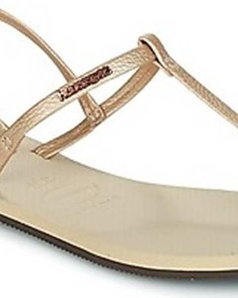 Béžové sandály havaianas