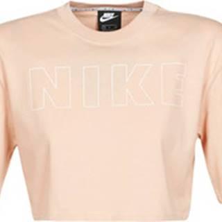 Nike Trička s krátkým rukávem W NSW AIR TOP SS CROP Béžová