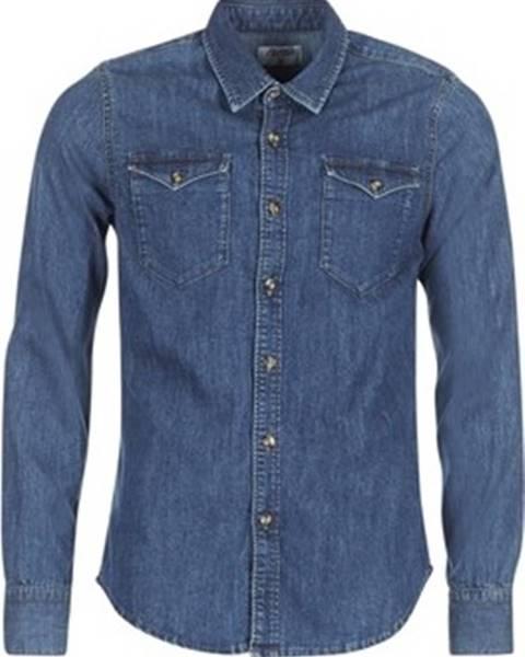 Modrá košile Casual Attitude