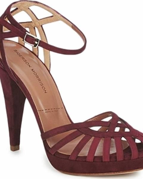 Červené sandály Sigerson Morrison