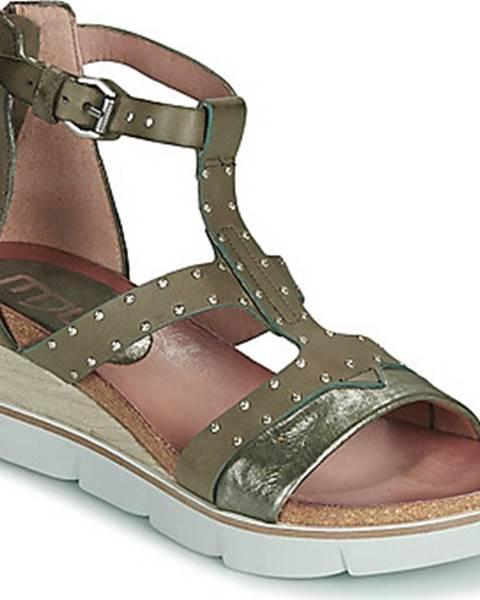 Khaki sandály Mjus