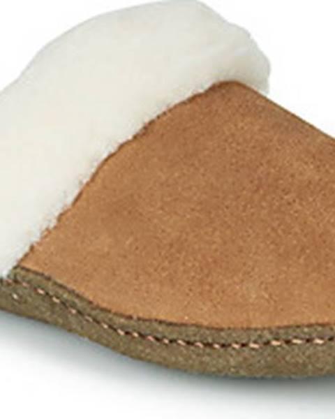 Hnědé domácí boty sorel
