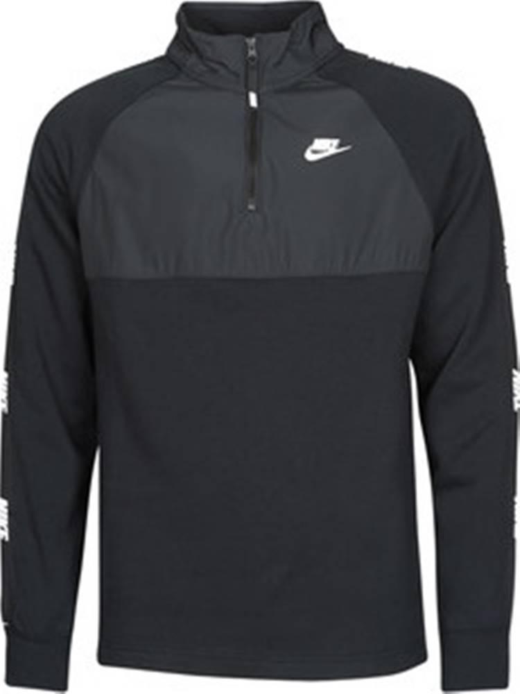 nike Nike Mikiny M NSW CE TOP HZ BB HYBRID Černá