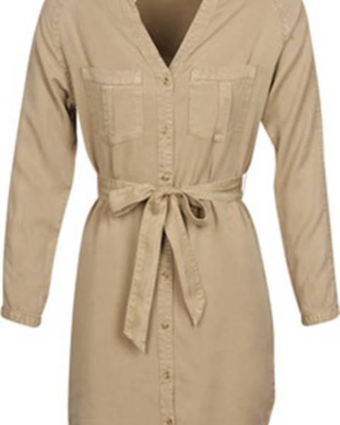Béžové šaty vero moda