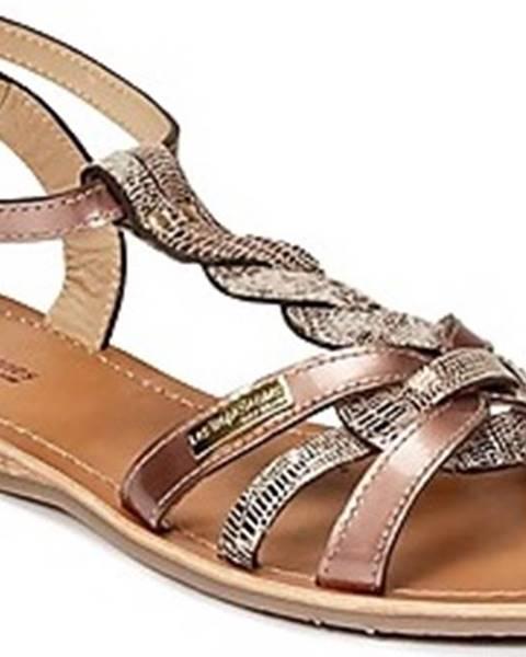 Zlaté sandály Les Tropéziennes par M Belarbi