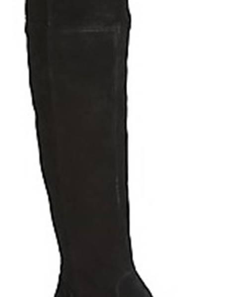 Černé kozačky Mjus