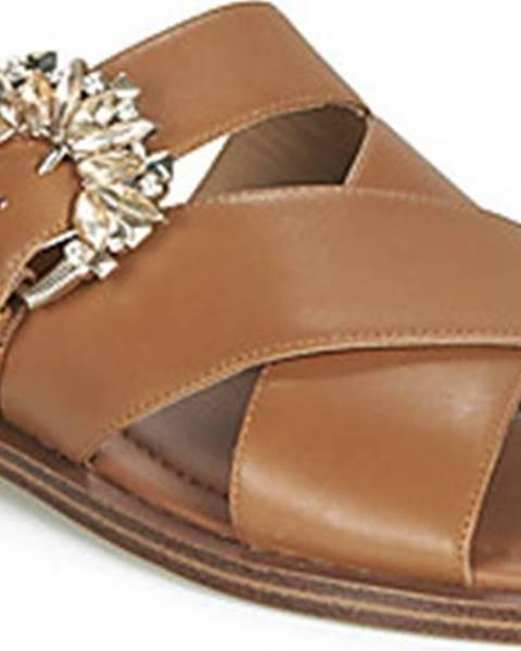 Hnědé pantofle MICHAEL Michael Kors