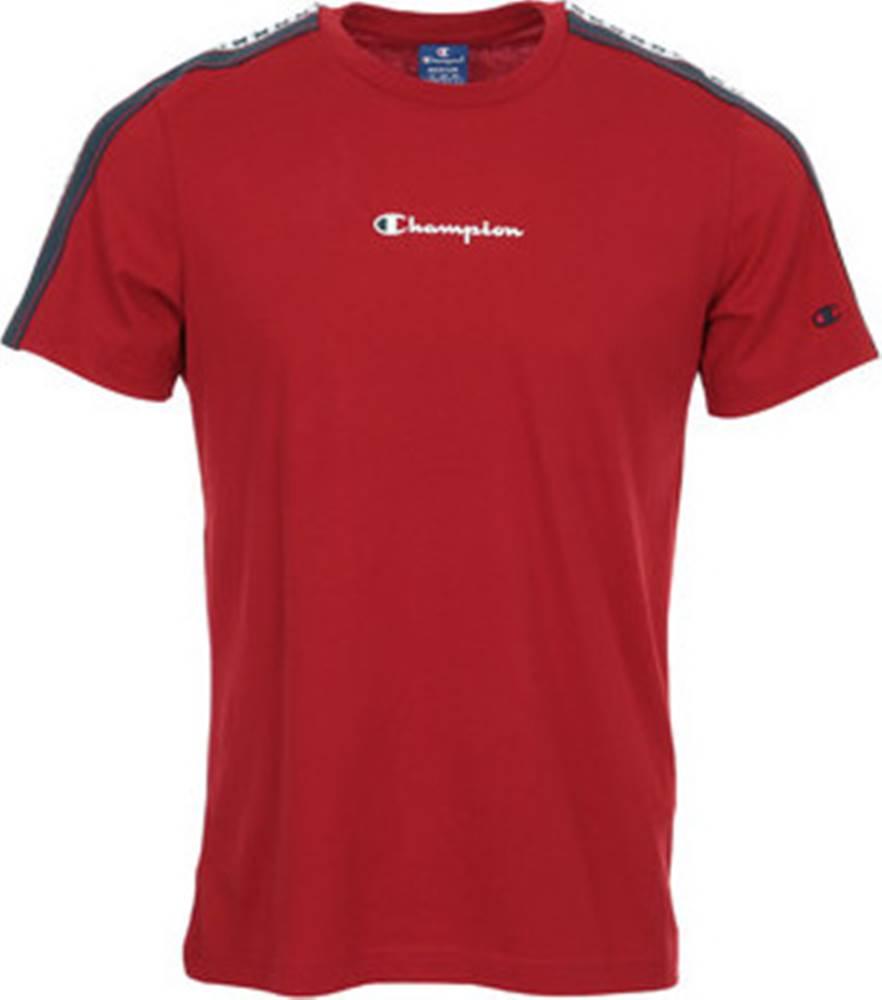 champion Champion Trička s krátkým rukávem Crewneck T-Shirt Červená
