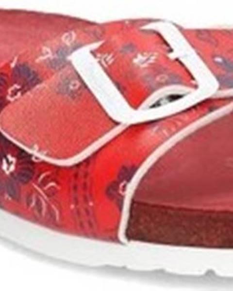 Červené pantofle pepe jeans