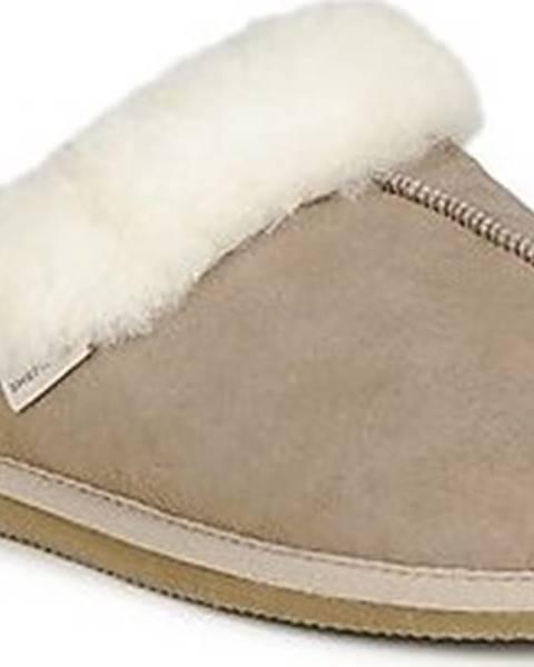 Béžové domácí boty Shepherd