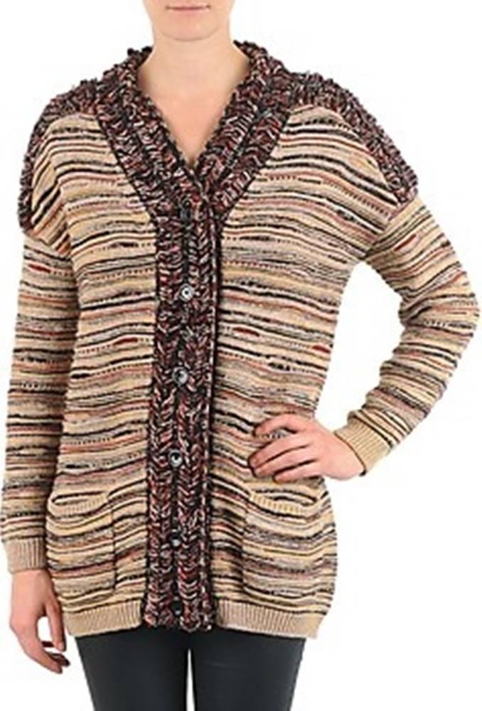 Antik Batik Antik Batik Svetry / Svetry se zapínáním WAYNE Béžová