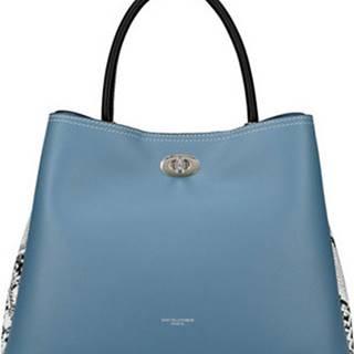 David Jones Kabelky Modrá dámská kabelka s hadími boky CM5735 Modrá