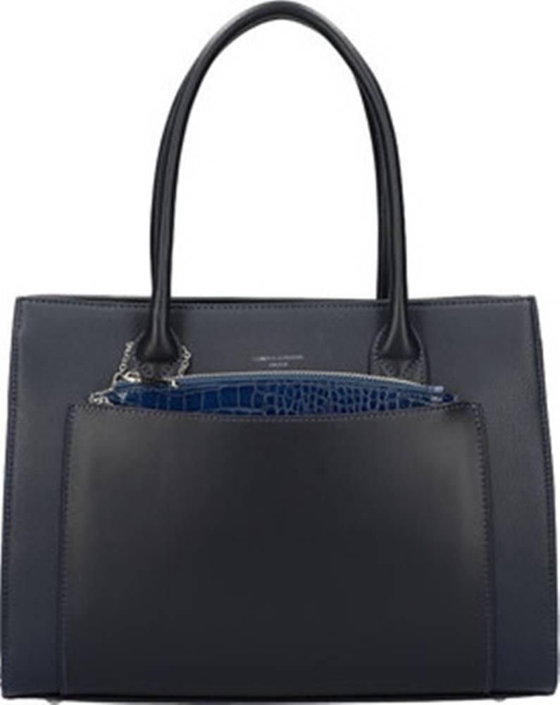 David Jones David Jones Tašky přes rameno Modrá moderní dámská kabelka 6105-2 Modrá